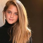 preteen model with long blonde hair
