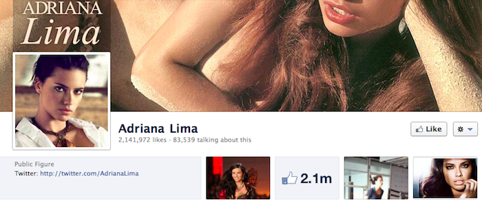 Adriana Lima's Facebook Page