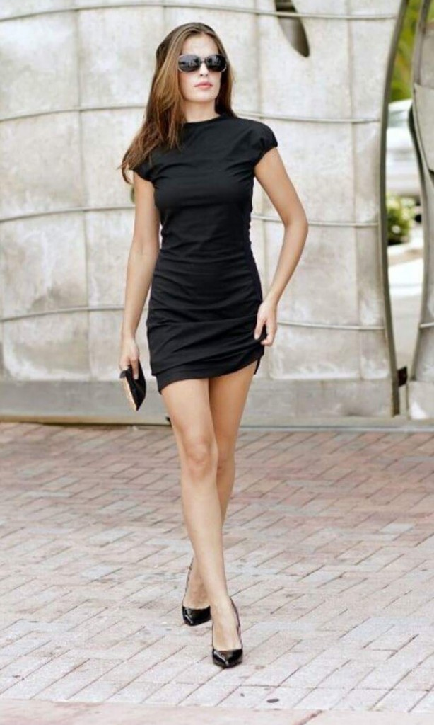 Zuzana full-length in little black dress