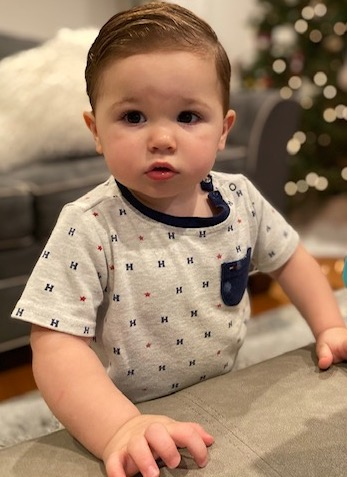 brown haired baby model